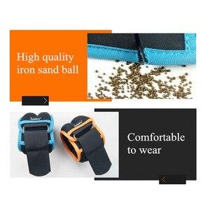 Image 5 - 1 4キロ/ペア調節可能な手首足首重み砂鉄バッグ重みとストラップ用のためのランニング