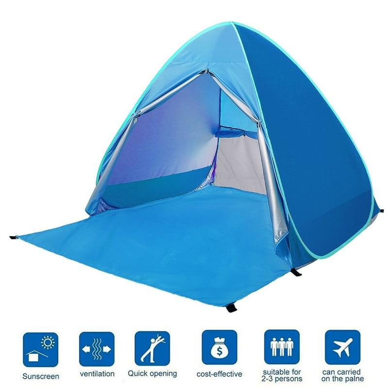 Automatique Pop Up plage tente abri soleil Cabana 1-2 personne Protection UV plage ombre pour les activités de Camping en plein air