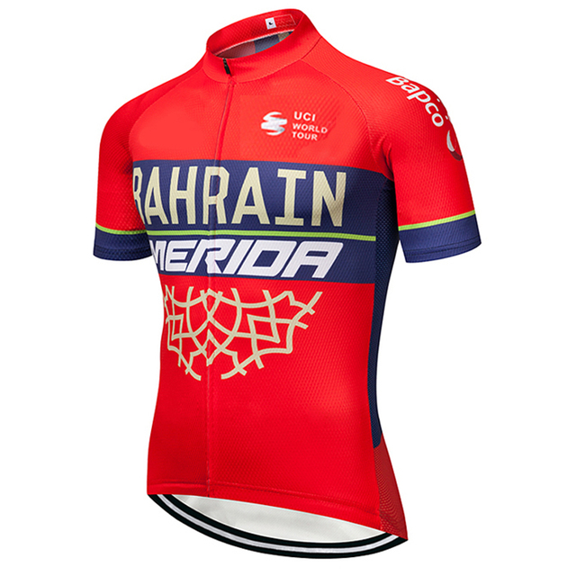 40f5d97a4 2018 bahrain Cycling team Clothing Bike jersey Quick Dry Mens Bicycle shirts  short sleeves pro Cycling Jerseys bike top Maillot
