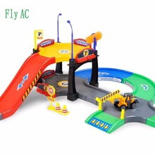 1 SET Children s DIY toys urban engineering parking lot puzzle toys toys Assembled track parking