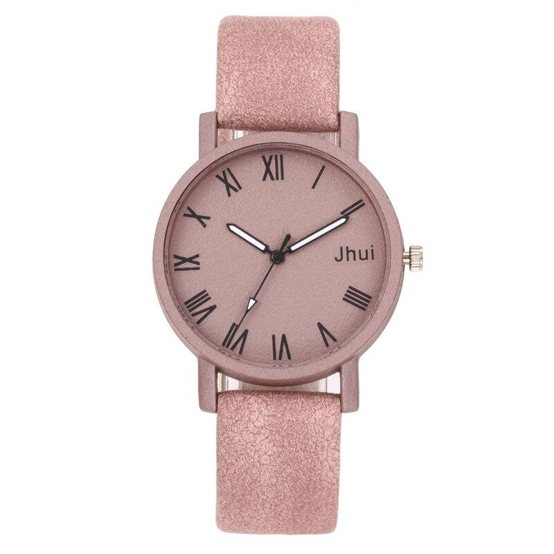 Jhui Brand Women's Watches Fashion Leather Wrist Watch Women Watches Ladies Watch Clock Mujer Bayan Kol Saati Montre Feminino