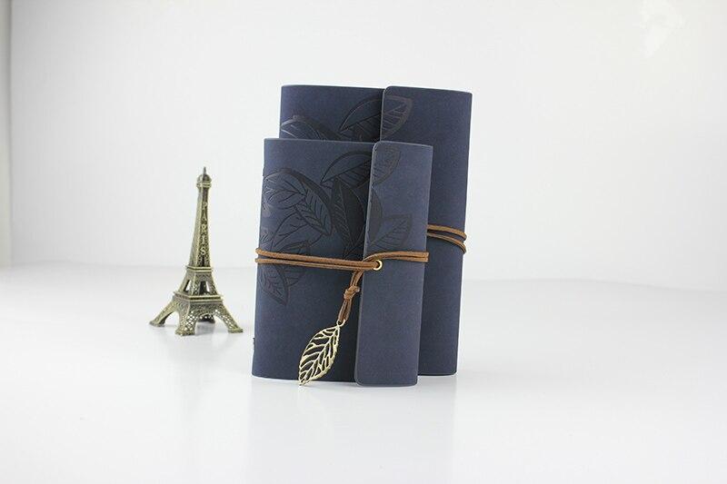 Vintage resenärens journalen läder keps rese anteckningsbok A6 A7 - Block och anteckningsböcker - Foto 6