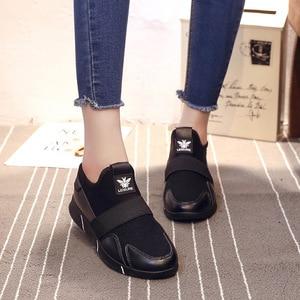 Image 3 - Zapatillas de plataforma para mujer, zapatos vulcanizados a la moda, zapatillas de verano para mujer, zapatos de cuña transpirables, zapatillas planas de baloncesto para mujer 2020