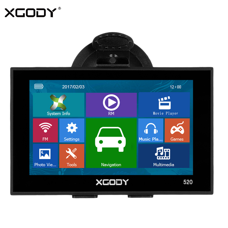 Xgody Gps Navigation Truck Lifetime Russia-Optional 5inch For Car And 256MB 8GB 8GB