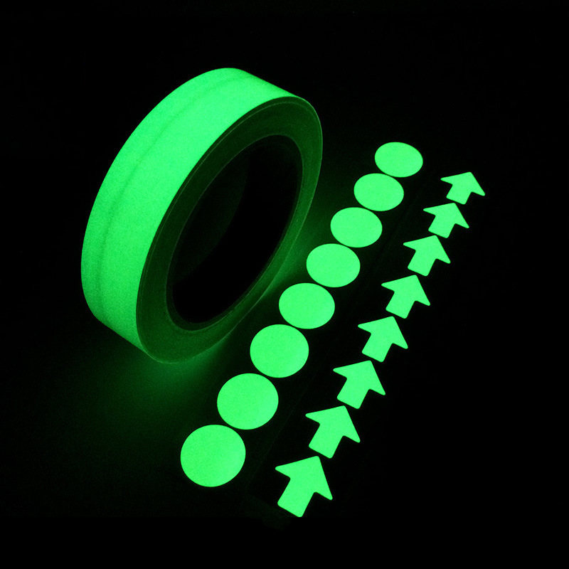 1/3M 20mm Multiple Color Luminous Tape Night Vision Glow In Dark Self-adhesive Warning Tape Safety Security Home Decoration Tape