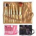 Venta caliente Profesional 7 unids de Cepillo Del Maquillaje Herramientas de Maquillaje Kit de baño Set con la Caja Pincel Maquiagem Sombra de Ojos En Polvo cepillos