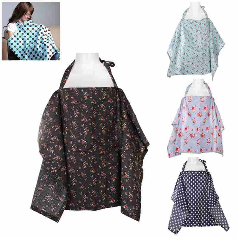 New Baby Breathable Breastfeeding Cover Nursing Covers Mother Breast Feeding cotton Mommys outdoors feeding baby breast ...