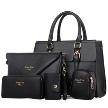 2017 New 5 pcs women handbags set famous brand designer PU women bag set good quality shoulder bag women bags MU67