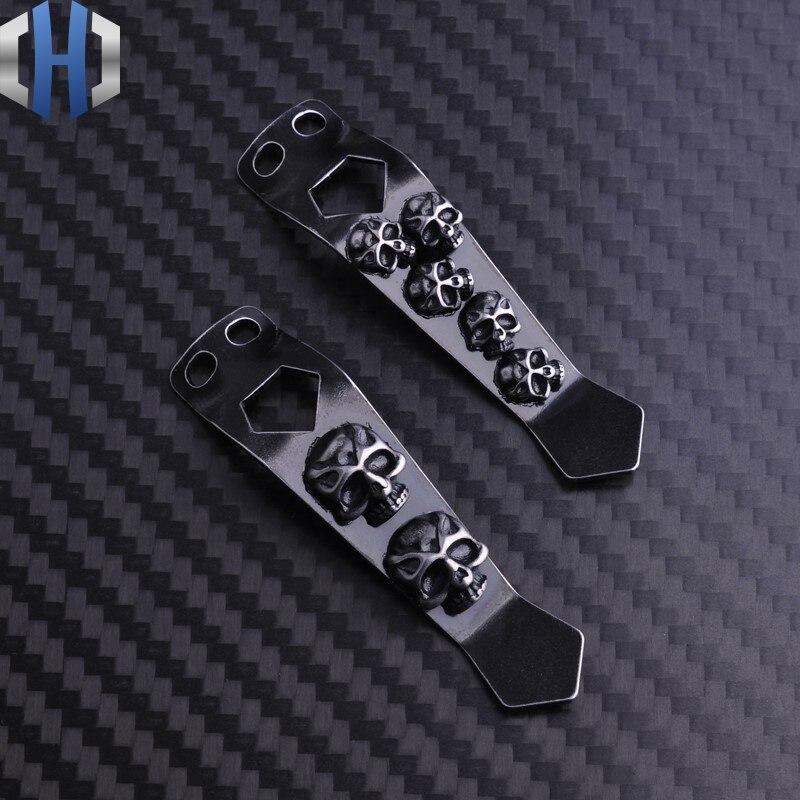 Universal Flashlight Back Clip Steel Waist Clip Metal Flashlight External EDC Pocket Clip K Sheath Clip tie waist sheath dress