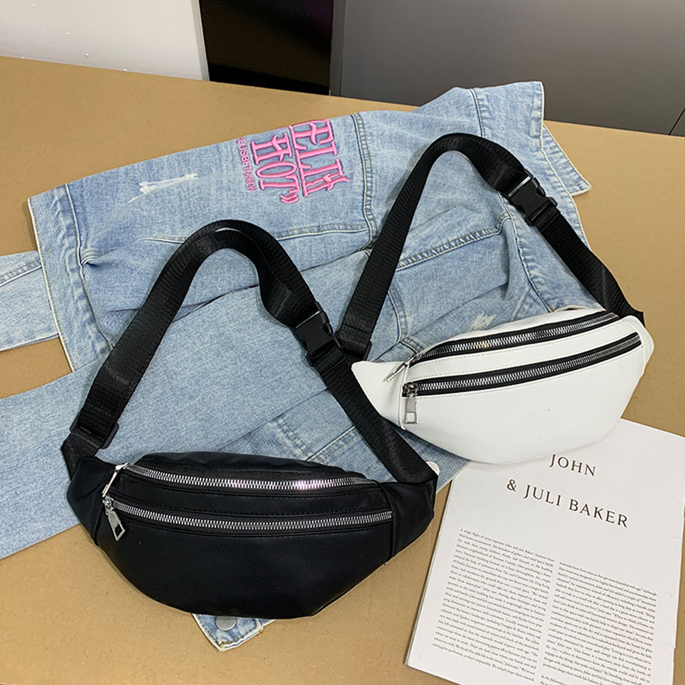 2019 Newest Hot Women Double Zippers Waist Fanny Pack Belt Bag Chest Pouch Travel Hip Bum Bag Lady Small Purse