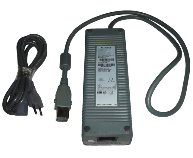 EU Plug  110V-230V 175W AC power Adapter charger For XBOX360 Power Supply For Xbox 360 fat title=