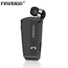 Fineblue F990 Новые беспроводной бизнес гарнитура Bluetooth спортивный драйвер наушники Телескопический зажим на стерео вкладыши вибрации Роскошные