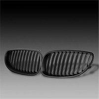 מול שחור גריל כליות ספורט רחב עבור BMW סדרת 5 E60 E61 M5 2003 2009-בסבכות ספורטיביות מתוך רכבים ואופנועים באתר