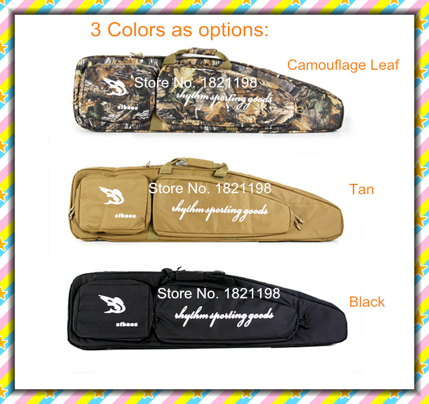 120cm 900D Oxford Fabric Tactical Airsoft Case Gun Carry Rifle Case for Outdoor Hunting Shooting  Black Tree Camo Khaki  Colors free shipping tactical military 120x30cm 600d oxford waterproof fabric airsoft gun bag case for shooting hunting cl12 0011