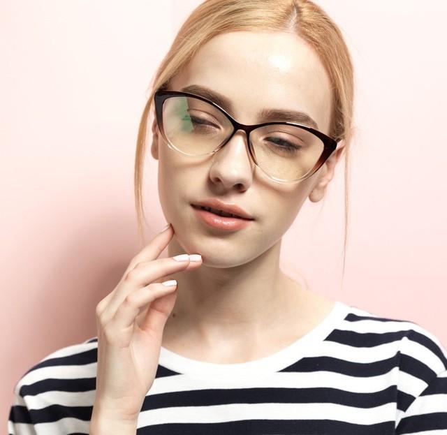 Alta qualidade óculos mulheres óculos ópticos óculos de armação TR90 macio pequeno-olho de gato 2014 mulheres óculos de armação 5865