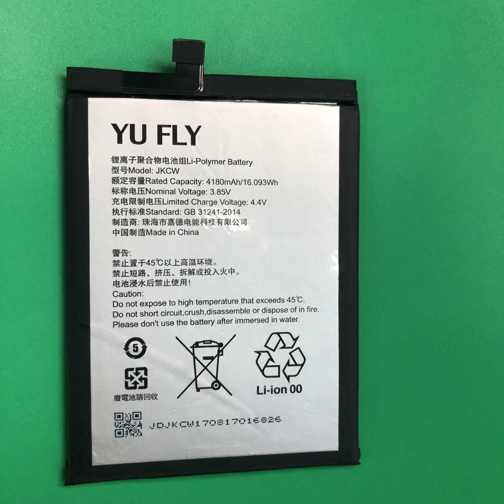 Alarm Nieuwe Hoge Kwaliteit Telefoon Batterij 3.85 V 4180 Mah Voor Yu Fly Jkcw Telefoon Batterij Aangenaam Voor Het Gehemelte