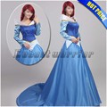Customized Princess Aurora cosplay costume Sleeping Beauty  Aurora fancy dress blue color