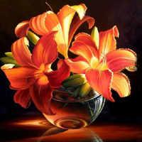Darmowa wysyłka zestaw Diy diament haft świeże małe złotej lilii pełna 3d placu Rhinestone ręcznie zrobiony kwiatek ściegiem krzyżykowym obraz
