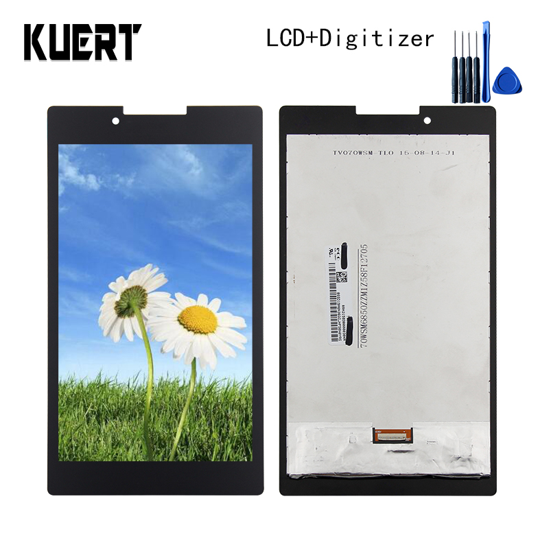 Panel LCD Combo Touch Screen Digitizer Glass LCD Display Assembly  For Lenovo Tab 2 A7-30 A7-30HC Accessories Parts Free Tools free shipping touch screen with lcd display glass panel f501407vb f501407vd for china clone s5 i9600 sm g900f g900 smartphone
