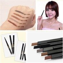 2015 nuevo 1 unids lápiz de cejas automática del maquillaje 5 del estilo de pintura para cejas cejas cepillos cosméticos herramientas delineador de ojos cejas lápiz