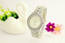 Relógio de forma das mulheres Strass relógio de quartzo Genebra Senhoras relógio de Quartzo Relogio de Presentes Para A Menina