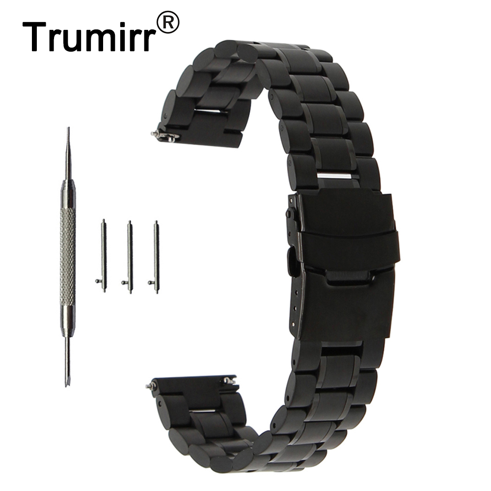 22mm Quick Release Watch-armbåndrem til rullesten / stål Asus Zenwatch 1 2 22mm LG G Watch W100 R W110 Urbane W150