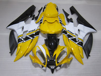 Injection molding fairing kit for Yamaha YZF R6 06 07 yellow white black fairings set YZFR6 2006 2007 TR03