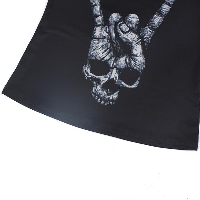 Women's  Skull Print Yoga Shirt,  Running Shirt, Training Fitness Cross Strip Tank Tops.