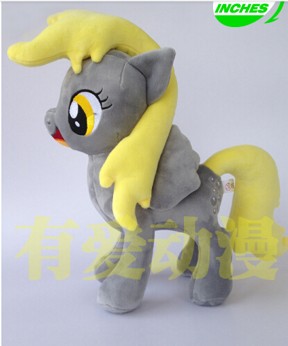 1PCS limited edition 32CM 288g little pet horse Derpy Hooves cotton plush doll toys for cute gifts and kids plush ocean creatures plush penguin doll cute stuffed sea simulative toys for soft baby kids birthdays gifts 32cm