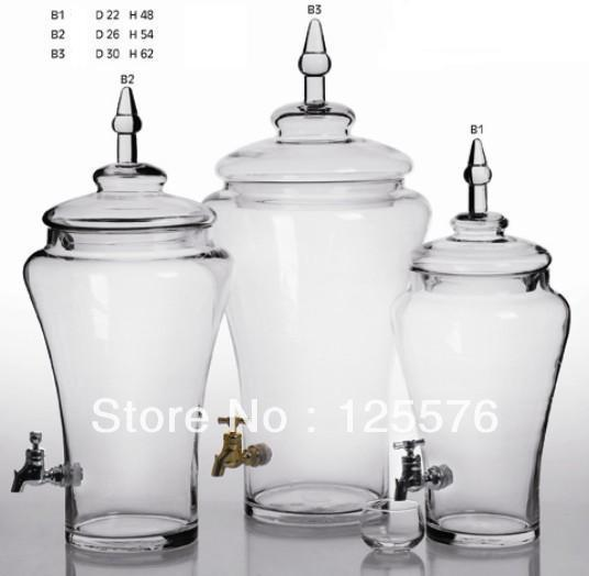 Free Shipping Big Capacity 20 Litre Glass Liquor Jar With
