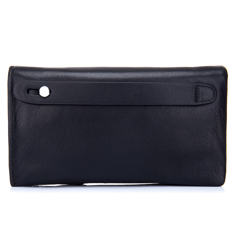 2018 Men's Genuine leather Wallets Top Leather Cowhide Business Style Male Long Wallet Clutch Bags High-capacity Soft Hand Pouch 2017 luxury brand men clutch cowhide wallet genuine leather hand bag classic multifunction mens high capacity clutch bags purses