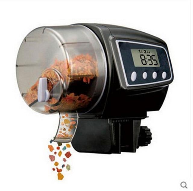New Digital LCD Automatic Aquarium Fish Feeder Auto Flake Pellet  Fish Food Tank Timer Feeder Electronic Fish  Feeding Tools