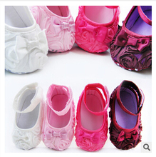 2016 New Festival flower 0-1 years newly born infant baby girls first walkers kid bebe sapato jane shoes Hot Free&Drop Shipping