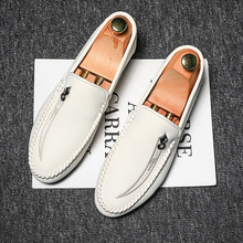 Summer New Leather Sneakers Casual Shoes Fashion Man Loafers Men's Moccasins Sof