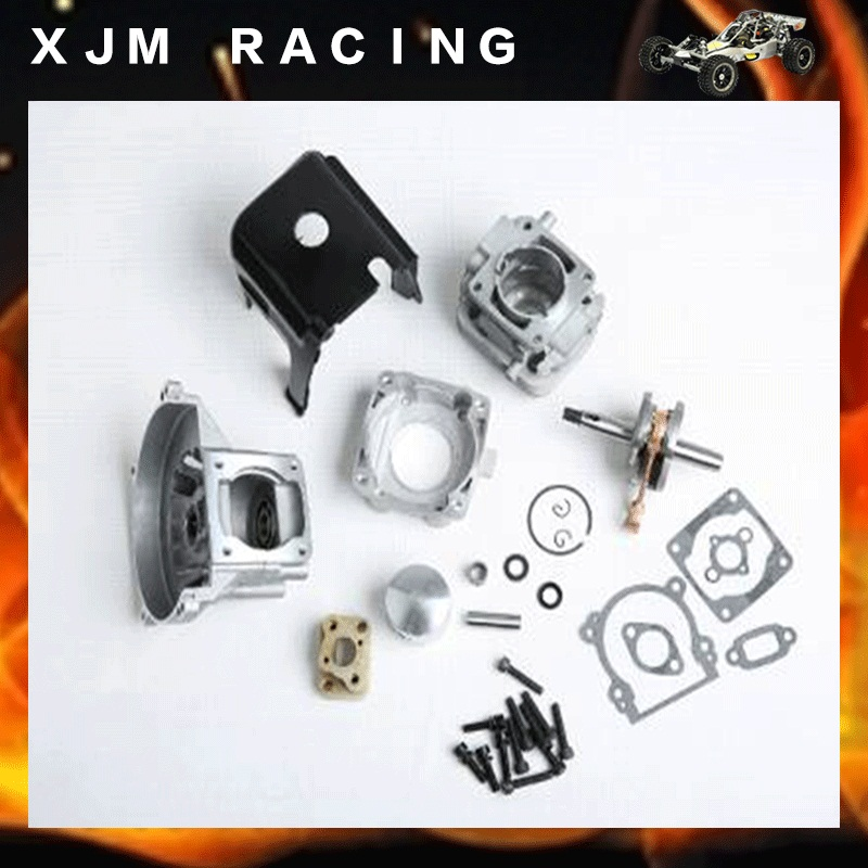 32cc upgrade cylinde kit fit 23-32cc zenoah cy rovan engine for 1/5 hpi rovan km baja losi parts 2 hole upgrade 4 hole 29cc engine kit for zenoah cy rovan engines for 1 5 hpi baja losi rc car parts