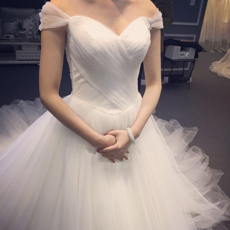 Real Simple Weddings 2017: Lace Vintage Real Photo Wedding Dress Half Sleeve Bridal