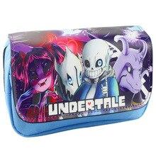 Anime Undertale Sans Game Case Zipper Print Purse Wallet bag Cartoon Gift