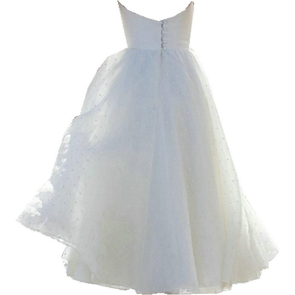 Sexy White Short Wedding Dress 2019 Ivory Wedding Gowns Strapless Tulle Zipper Beach Tea Length Low Price Women Bridal Dresses