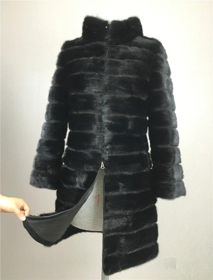 liyafur реальное норка шубу для женщин природных настоящая русская натуральные шубы из роскошные черного цвета нестандартного размера пальто ...
