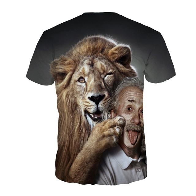 3D Print Lion T-shirt