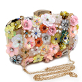 Hot Sellign Flower Accessory Candy Color Metal Day Clutches Purse Evening Bags Wedding Cute Handbags For Party Dinner Wallets