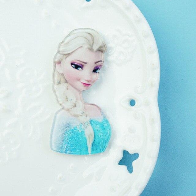 1 Pcs Harajuku Acrílico Broche Roupas Das Meninas Bonitos Princesa Elsa Crianças Crachá Mochila Ícone Broches Pinos Acessórios
