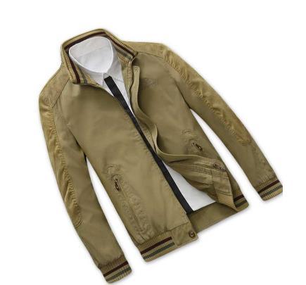 Casual Green De Grande Coton Hommes Veste D'affaires Taille Military khaki navy Col Blue Décontractée 5ARjL3q4