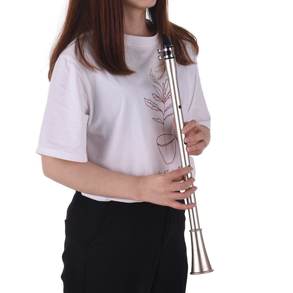 Bb Key Mini Simple Clarinet Sax Compact Clarinet-Saxophone ABS Material Musical Wind Instrument For Beginners With Carry Bag