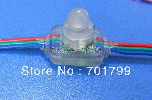 RGB full LED pixel module (WS 2811IC) ;DC5V input,50pcs a string;IP65