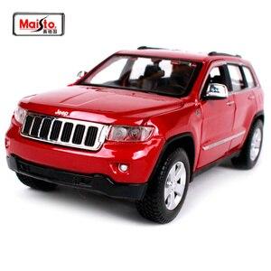 Image 1 - Maisto 1:24 Jeep Grand Cherokee SUV Diecast Modell Auto Spielzeug Neue In Box Freies Verschiffen 31205