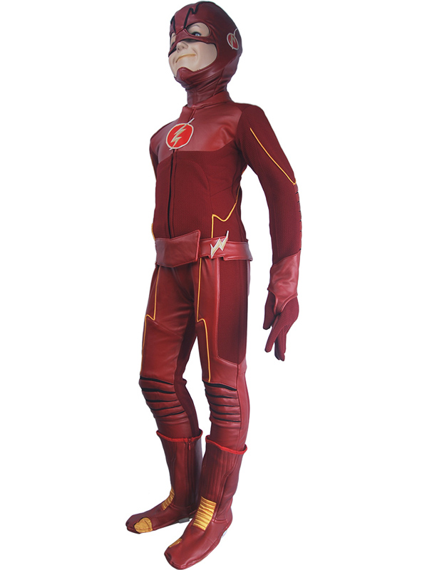 aliexpresscom buy kids children the flash season 4 barry allen flash cosplay costume deluxe halloween costume superhero outfit suit from reliable flash