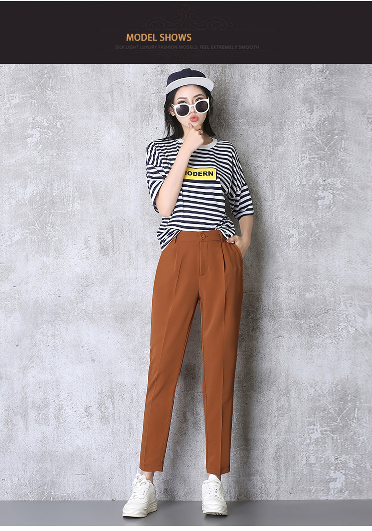 Hot Sale Harem Pants Women 19 Summer Autumn Pants Casual OL Pants Elastic High Waist Slim Work Pants Plus Size 3XL Trousers 3