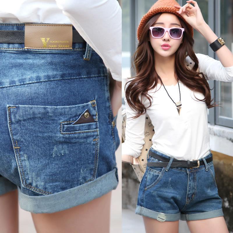 Plus Size summer 2015 new loose denim Shorts girl ladies casual ...