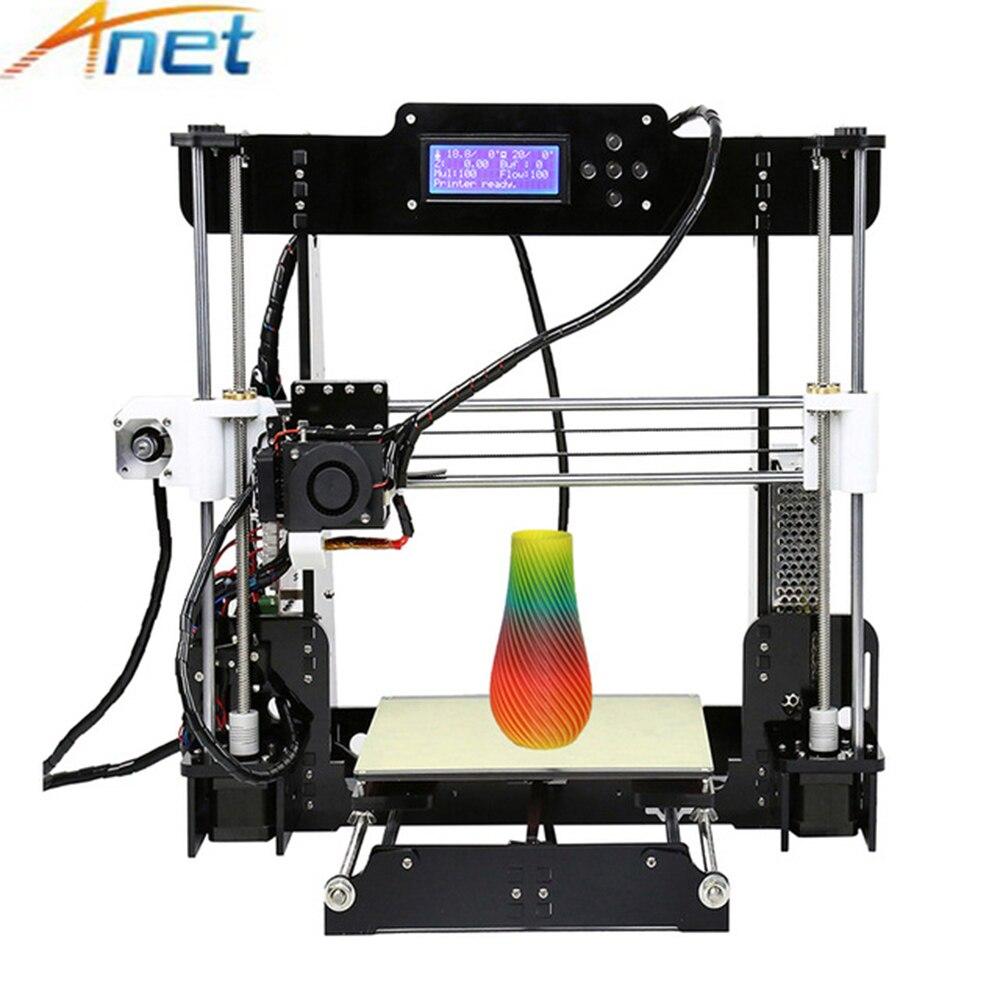 Продвижение 3D принтеры Анет A8 A6 A3S Reprap Prusa i3 большой рабочий стол 3D принтеры DIY Kit с Алюминий очаг 0,4 мм Экструдер Насадка